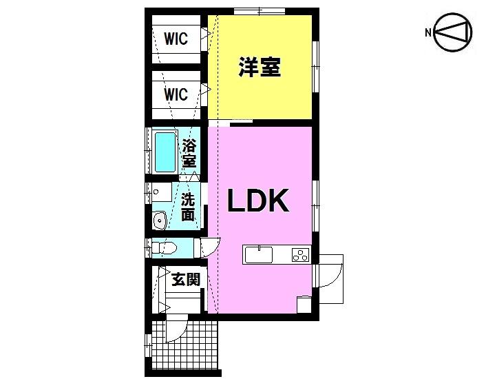 【間取り】 ・1LDK(全居室収納付き) ・オール電化