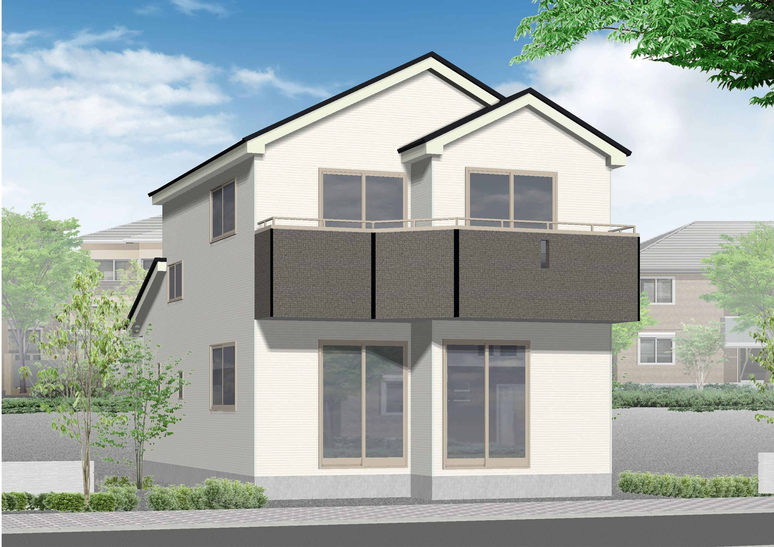 【外観写真】 島田市中溝町 新築一戸建て 2号棟 です。
