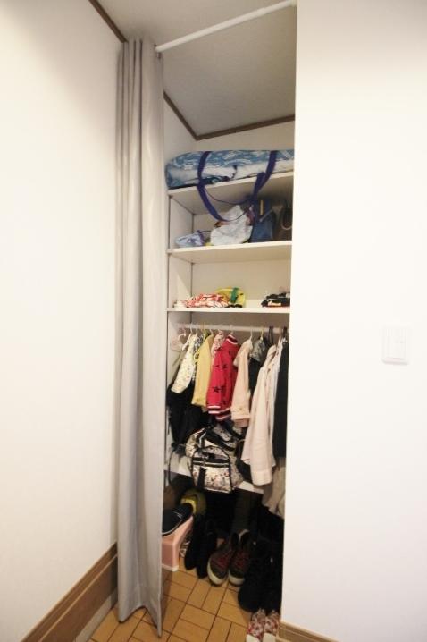 玄関収納も大型なので靴も綺麗に収納できますよ。玄関が片付いていると気持ちがいいですよね。