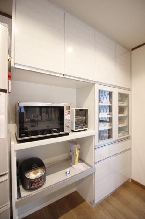 容量の多いキッチン収納♪