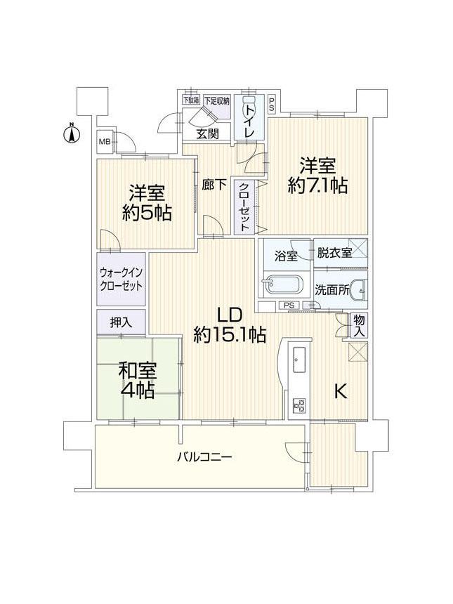 【間取り】 D2タイプ・3LDK+FREE ROOM・全居室収納ありでウォークインクローゼット・出窓・アルコーブもあります♪オークランド沼本町♪