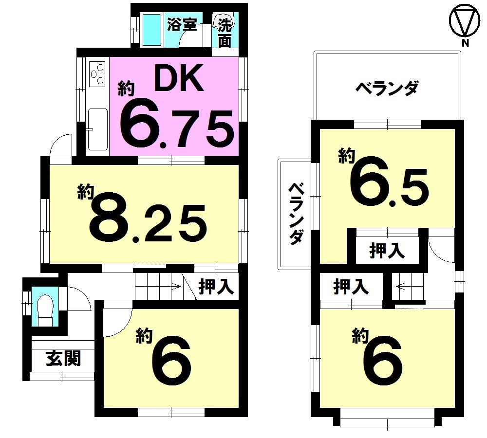 【間取り】 4LDK・マックスバリュー神領店徒歩12分(約940m)・たんぽぽ保育園徒歩4分(約300m)