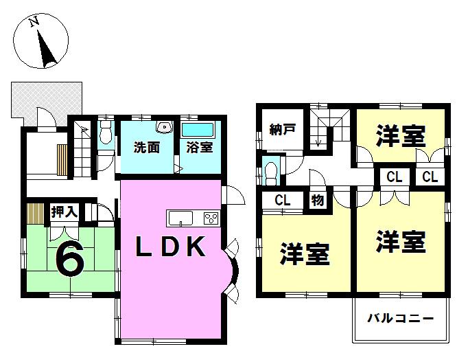 【間取り】 ▼4SLDK!!建坪約35坪◎ ▼室内は大変丁寧にお使いです!!