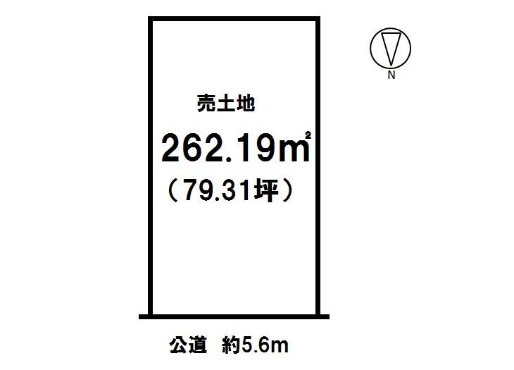 【区画図】 つつじが丘 売土地 土地面積 79.31坪