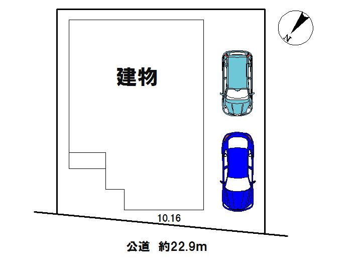 【配置図】 駐車2台可能(車種による)