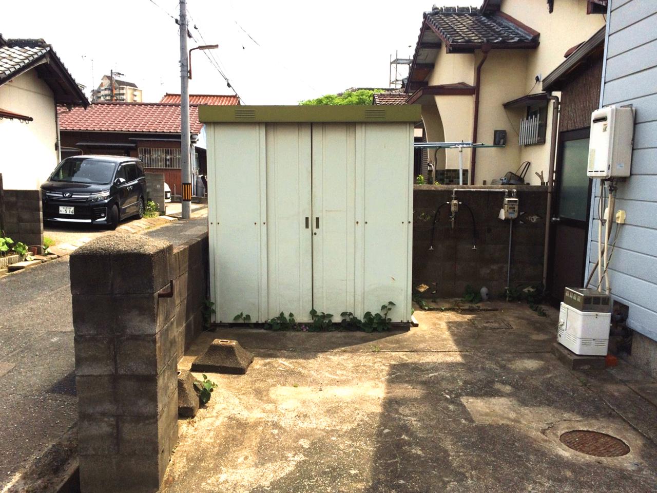 建物前の、便利なスペースです♪勝手口から入れます♪◆小倉南区北方駐車スペース4台分の戸建て住宅♪