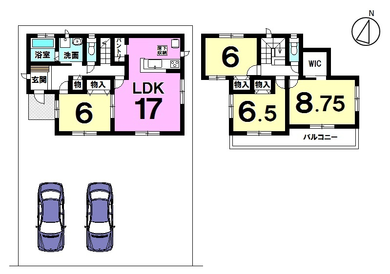 【間取り】 土地面積 57.94坪 建物面積 32.44坪