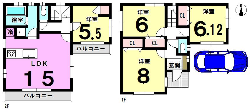 【間取り】 江戸川区北小岩8丁目の中古戸建物件です。