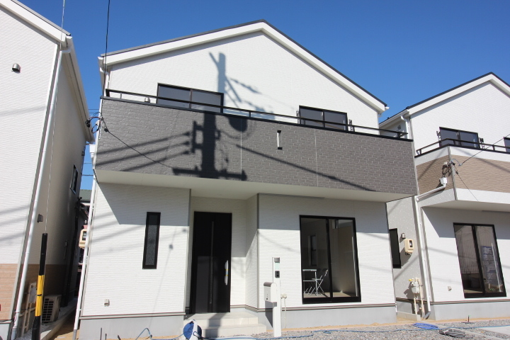 【外観写真】 新田町 新築戸建 全6区画 4号棟 土地面積 40.92坪 建物面積 34.05坪