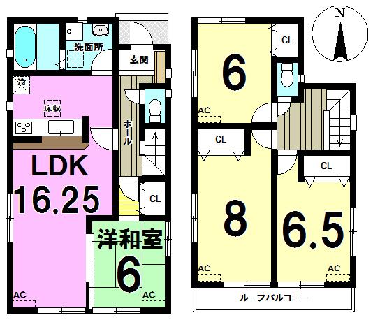 【間取り】 6号棟◆4LDK