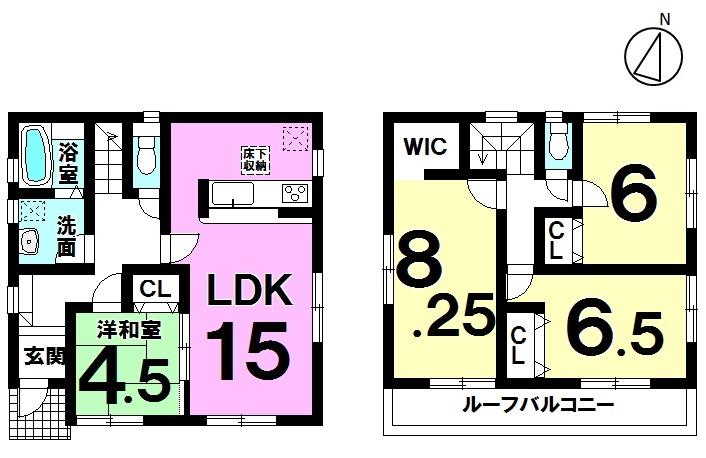【間取り】 間取り図 4LDK 2390万円 緑豊かな住環境で夢のマイホームをイメージして
