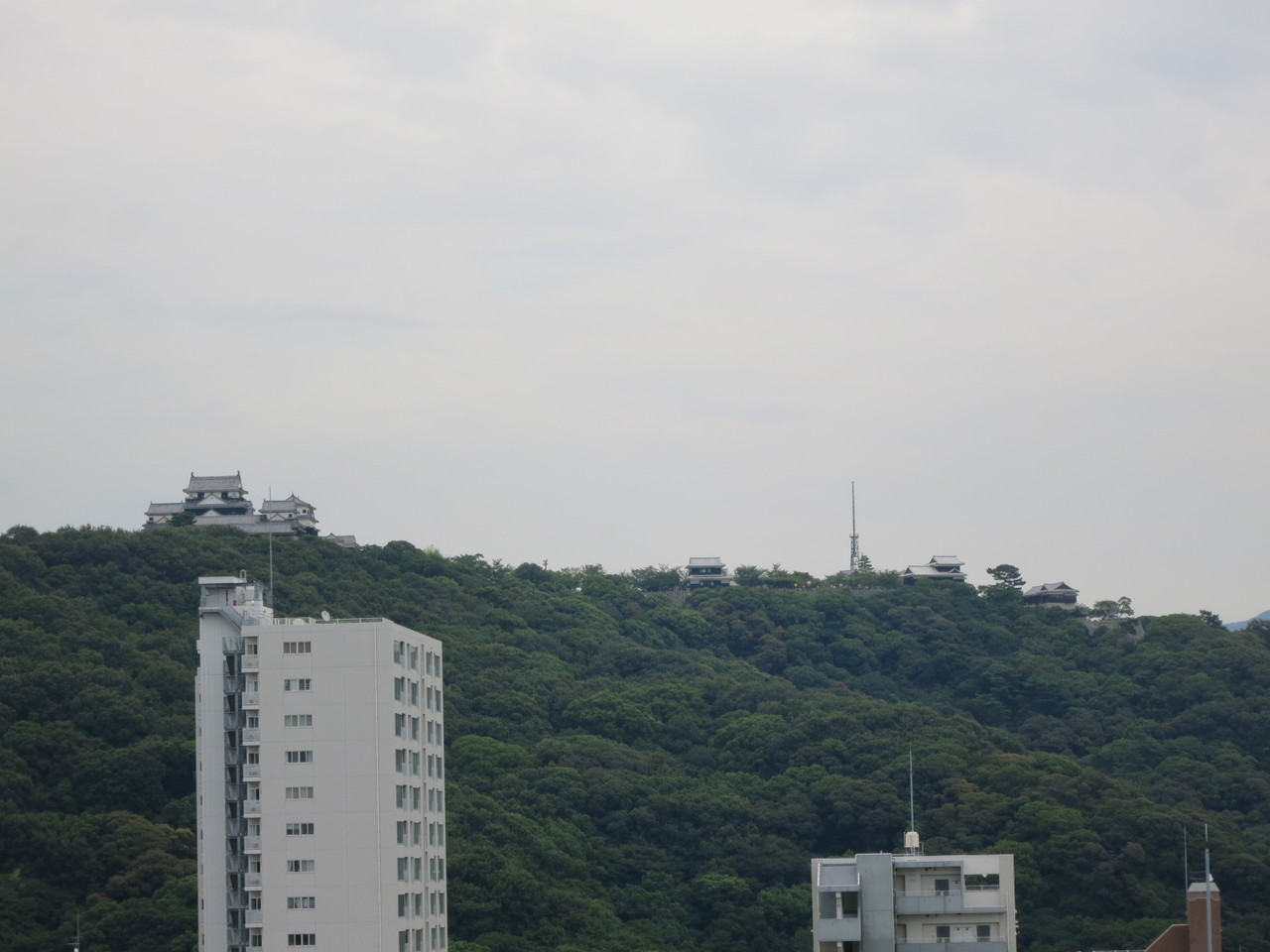 松山城が目の前(バルコニーより)