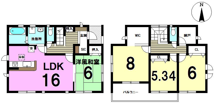 【間取り】 2号棟◆4LDK