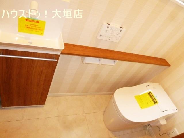 手洗い器付きで便利です。
