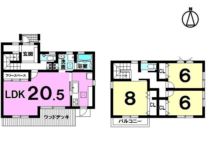 【間取り】 3LDK+ドッグスペース+SIC 駐車3台 愛犬家住宅