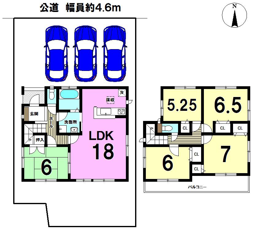 【間取り】 2号棟◆5LDK