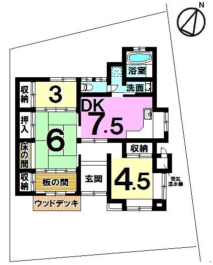 【間取り】 生活施設が充実したエリア 平屋をお探しのお客様にお勧めです