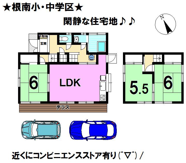 【間取り】 富士宮市杉田の中古戸建物件です。