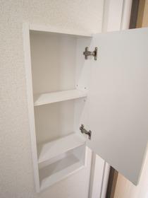 トイレのニッチ収納 *同社施工例