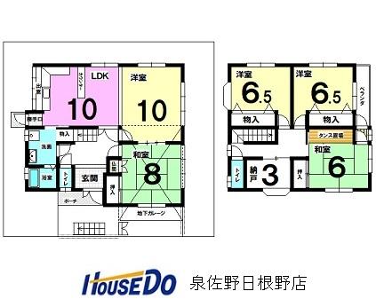 【間取り】 ・5SLDKのゆとりある間取り、お子様にも1部屋ずつどうぞ ・収納スペースを多くとり、スッキリ空間で暮らしたい方にピッタリですね。