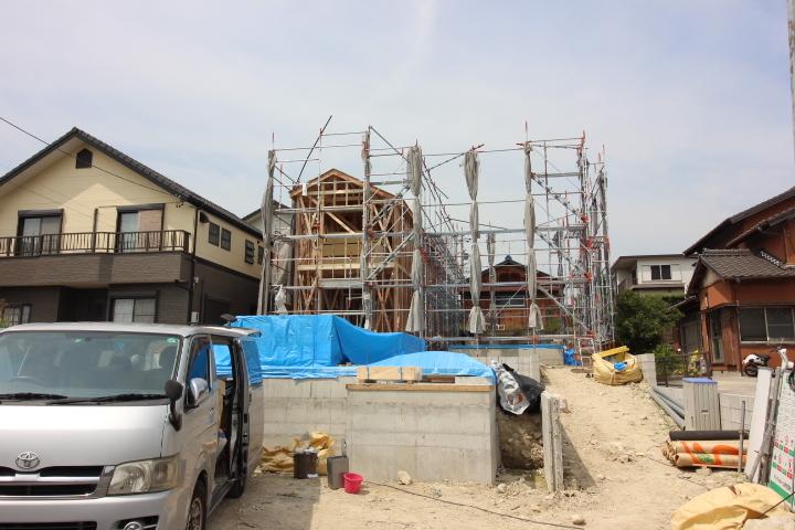 工事工程 足場あり 9月5日撮影しました。