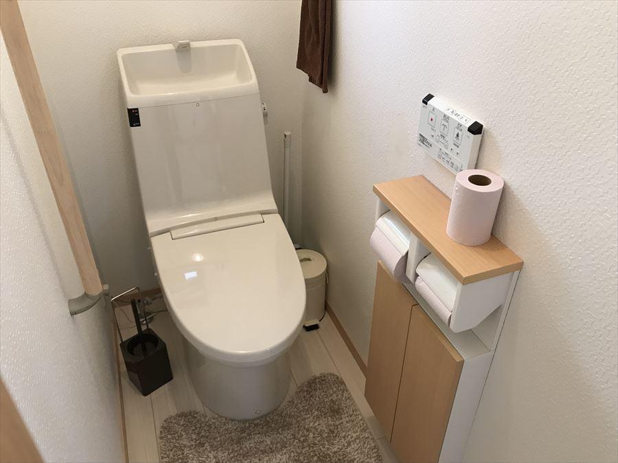 洗浄便座で使用後はいつでもスッキリ!お手入れもしやすいので、清潔感が保てます◎