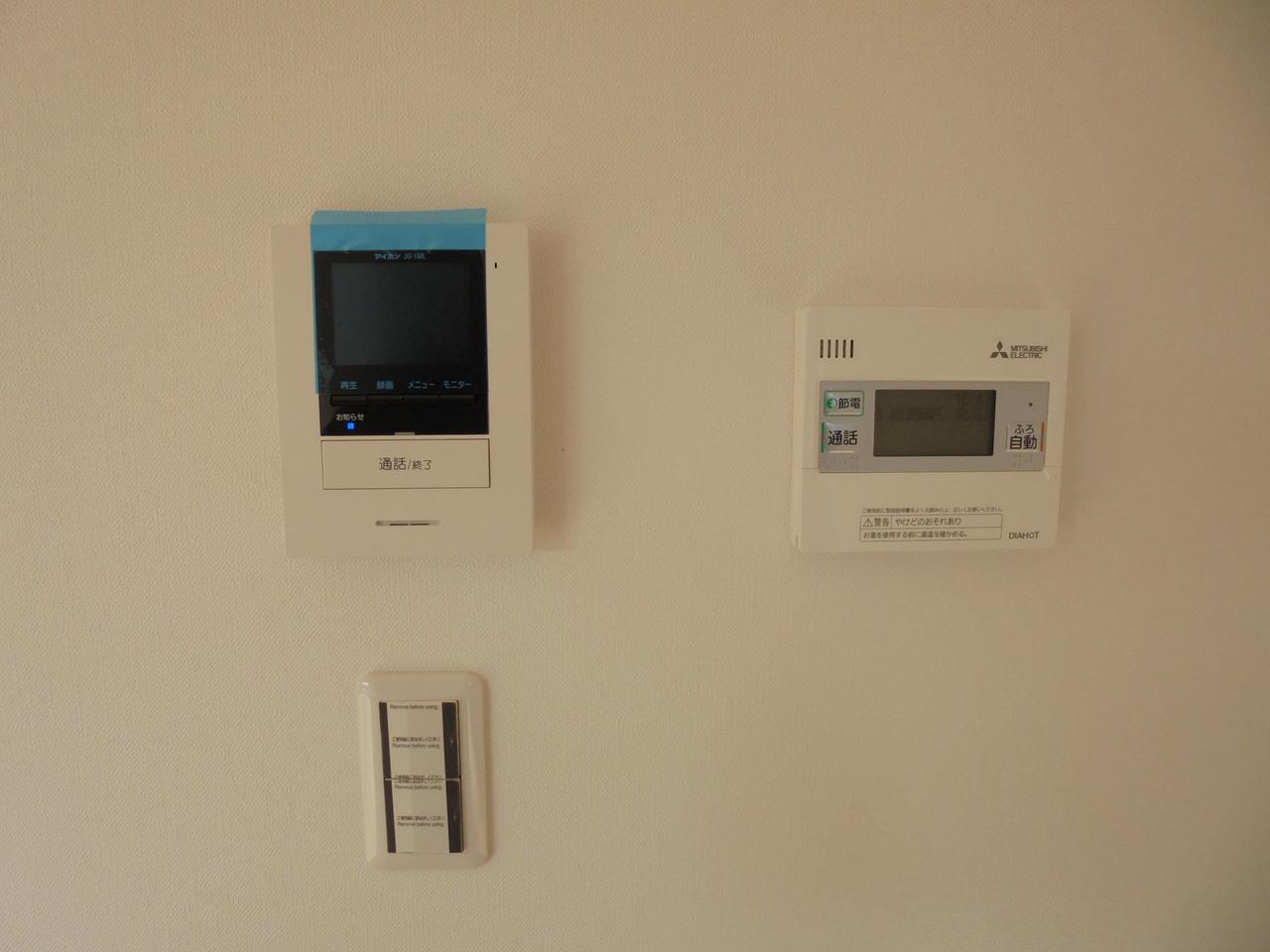 モニター付きインターホンで、来客者もお部屋の中から確認できます(^^)