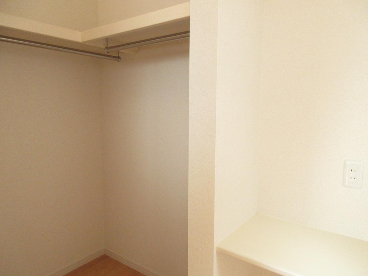 2階居室は全てのお部屋にウォークインクローゼットがついています!収納力抜群でお部屋をすっきりとお使いいただけますね(^^)