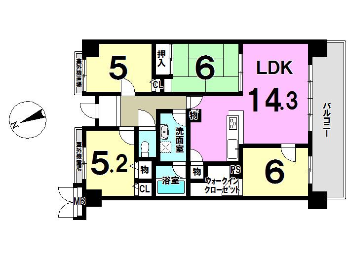 【間取り】 4LDKのお部屋です!!