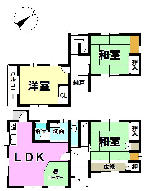 【間取り】 ▼3LDK+和室コーナー◎◎ ▼平成29年9月リフォーム完了!
