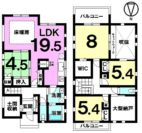 【間取り】 間取り図 4SLDK