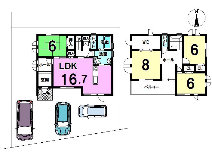 【間取り】 1階に和室のある4LDKです