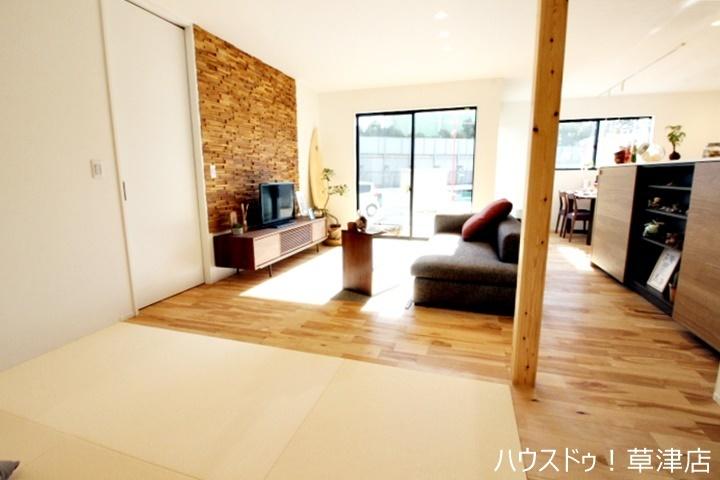 LDKに併設した4.5畳の和室。ホールからも出入りすることが可能です。