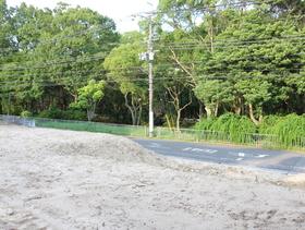 土地西側奥から撮影 東側は緑がいっぱい。毎日爽やかな朝を迎えられます。