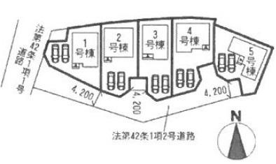 全体区画図(全5棟)