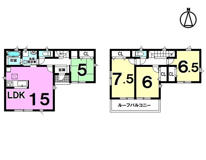 【間取り】 4LDK 駐車4台可能