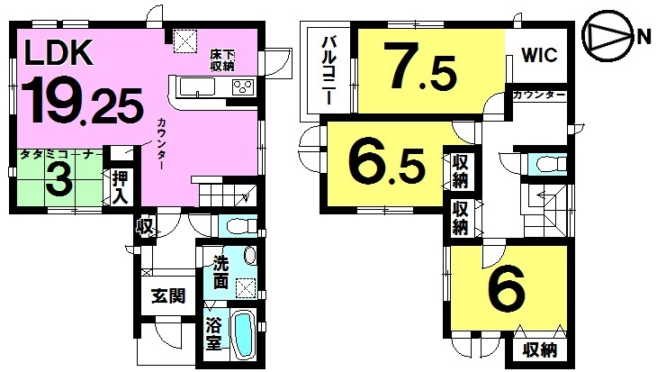 【間取り】 間取り図 3LDK 2880万円 緑豊かで住みやすい住環境に夢のマイホームはいかがでしょうか♪