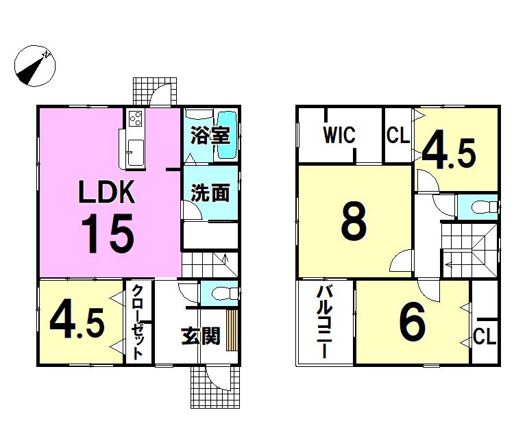 【間取り】 H29年10月に完成予定の新築戸建(4LDK)