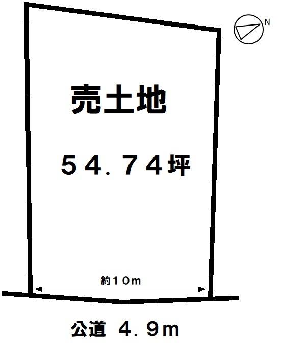 【区画図】 水と緑が豊かなエリア 乙川白山公園まで徒歩3分(約270m)