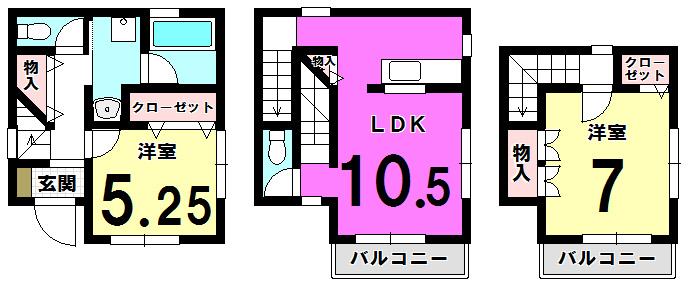 【間取り】 江戸川区南小岩2丁目 新築戸建の物件です。