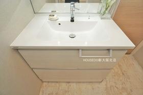 朝はパっと効率良く身支度 したい方に嬉しいシャワー付き独立洗面台