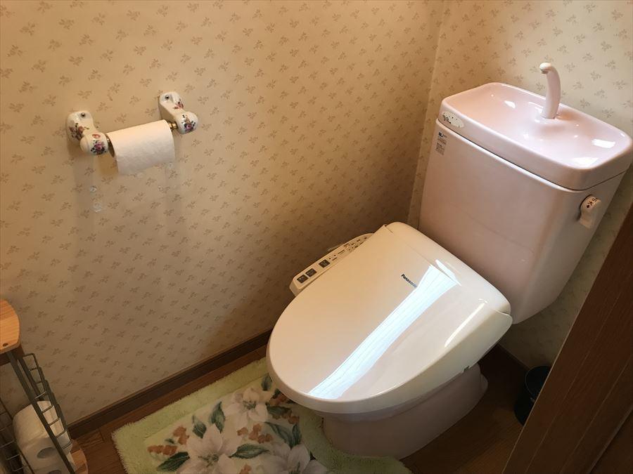 お手入れしやすいトイレです。