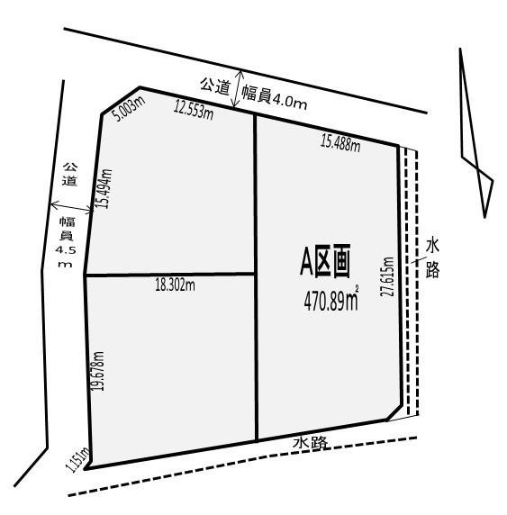 【区画図】 建築条件なし、お好きなハウスメーカーで建築可能です。