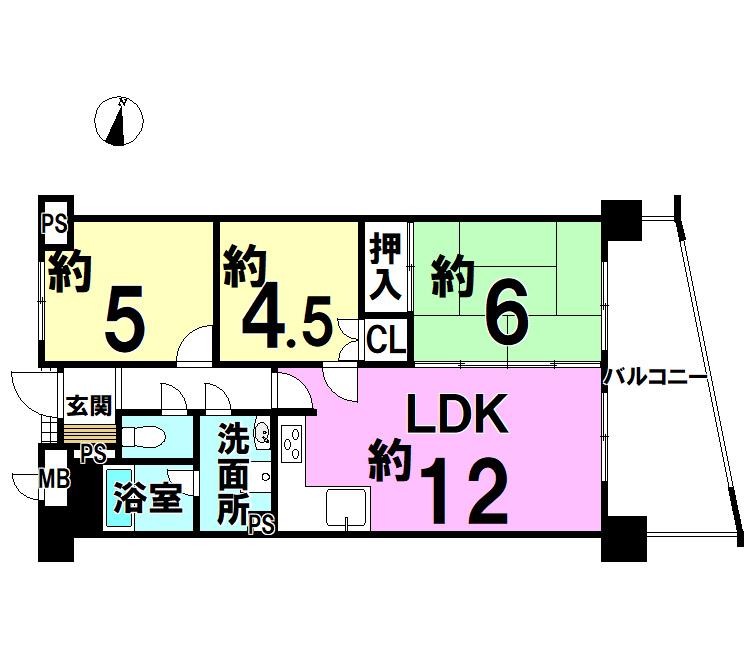 【間取り】 ☆H29年7月リフォーム完了したお部屋です。