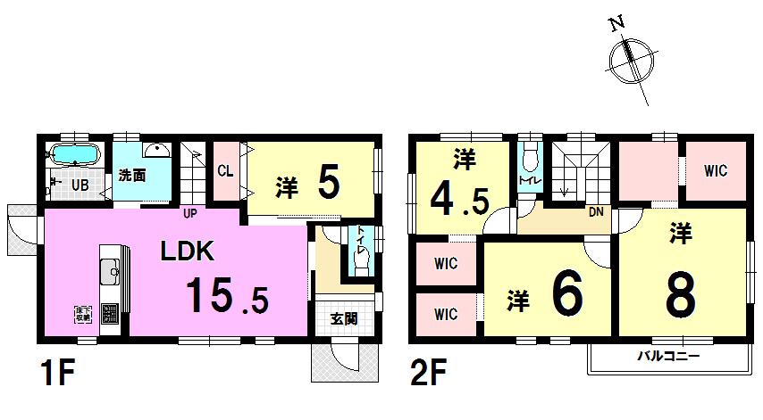 【間取り】 ◆小倉南区南方 4LDK 収納充実 新築戸建て♪♪