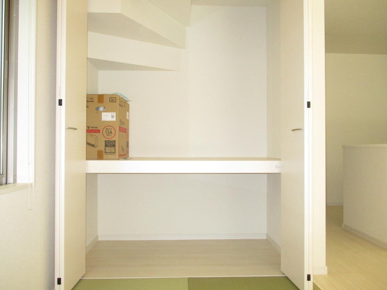 和室にうれしい押入れでお部屋がすっきり片付きます