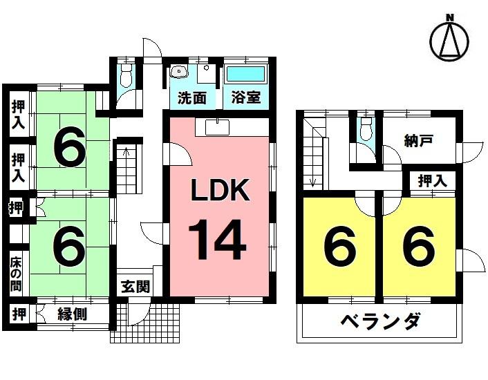 4LDK 駐車3台可 平成29年10月リフォーム済 オール電化