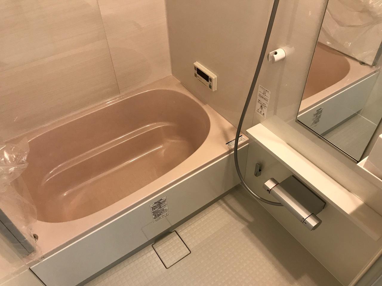 足をのばしてゆったりできる浴室