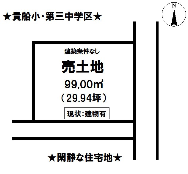 【区画図】 富士宮市大中里の売土地です。