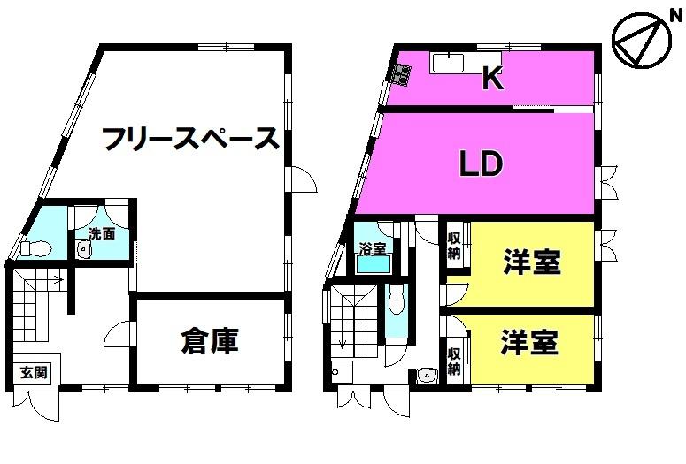 【間取り】 敷地面積約52坪!現在空家の為、即入居可能です♪